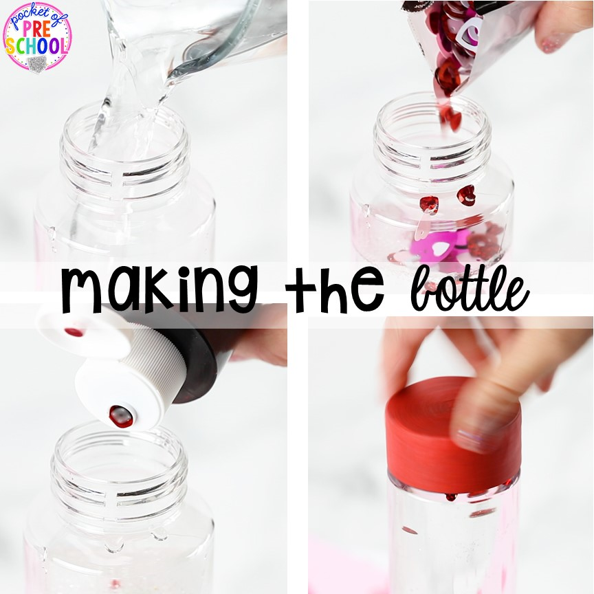 How to make a Valentines sensory bottle!