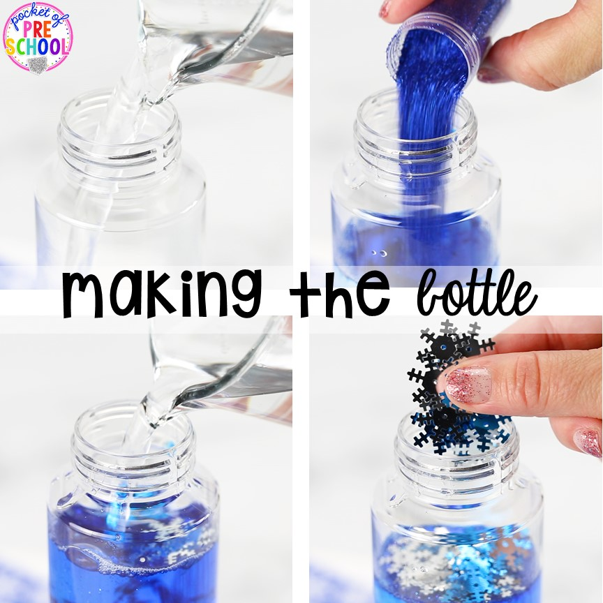 How to make a Winter Sensory Bottle!