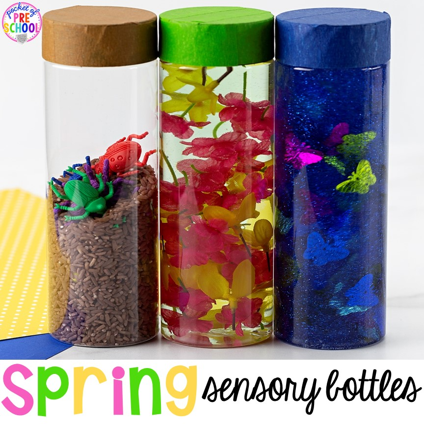 Spring Sensory Bottles Pocket Of Preschool