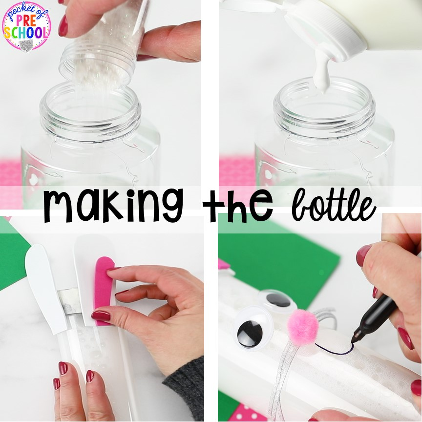 How to make a Easter bunny sensory bottle!