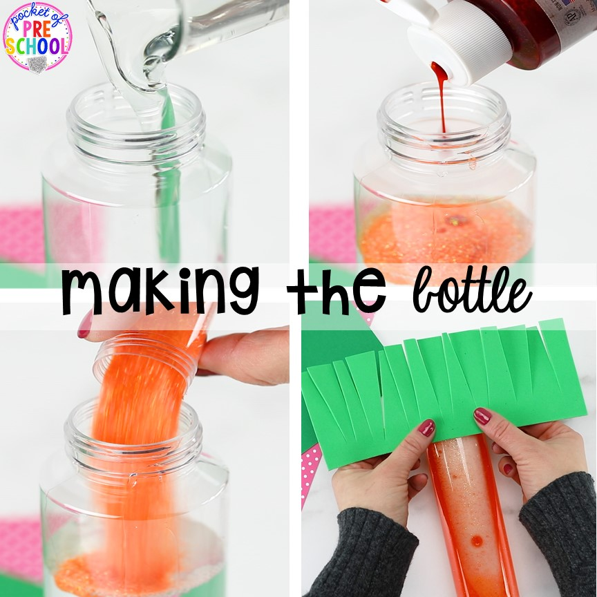 How to make a carrot sensory bottle!