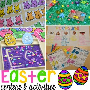 Easter centers and activities for preschool, pre-k, and kindergarten.