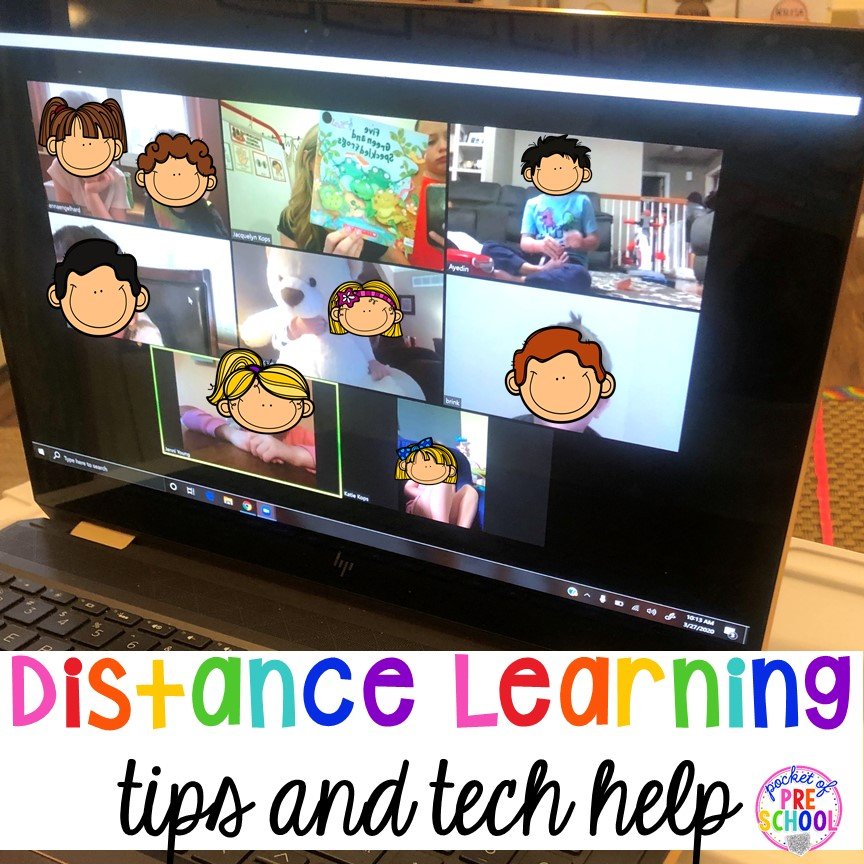 Distance learning tips and FREEBIES plus Zoom Tricks you NEED right now. Flip the screen, pretty filer and more.