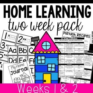 Home Learning Lesson Plans for Preschool, Pre-K, and Kindergarten - perfect for distant learning or summer months.
