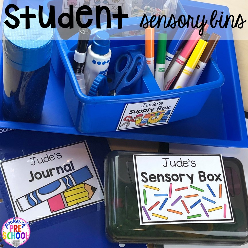 Color code indivual student supplies with editble labels in your preschool, pre-k, and kindergaten.