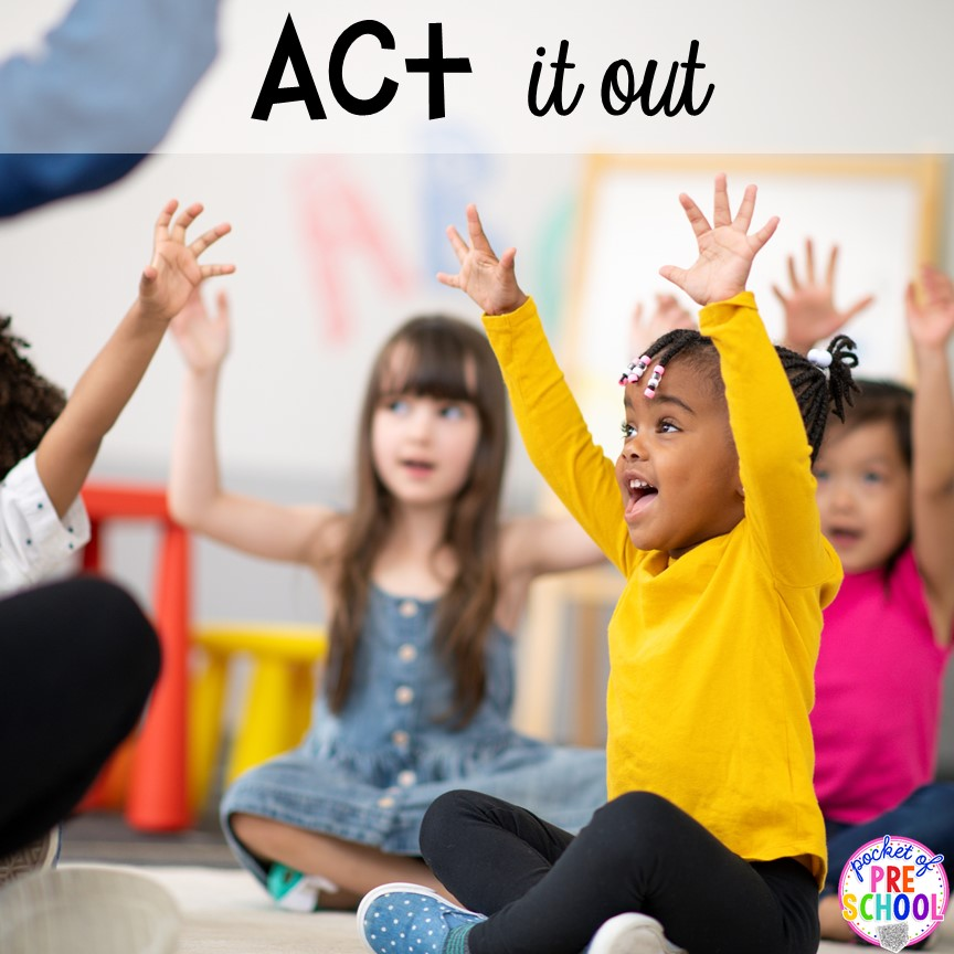 Act out books during cricle time! Read aloud and circle time ideas for preschool, pre-k, and kindergarten.
