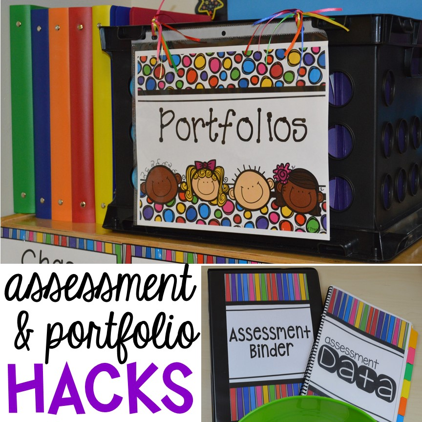 Assessment and student portfolio hacks that will save you time and engery! Every preschool, pre-k, and kindergarten teacher needs these hacks