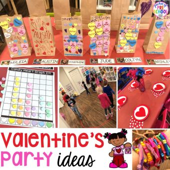 Valentine's Day party ideas and hacks - freebie plus quick, easy, and dollar store finds! for preschool, pre-k, or lower elementary. #valentinesdayparty #preschool #prek #kindergarten #schoolparty