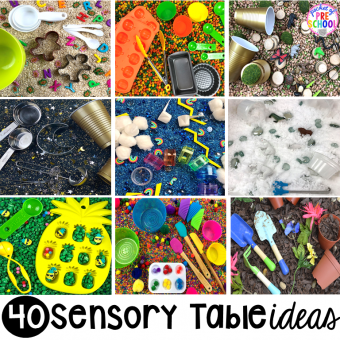 40 Sensory bin ideas for the whole year! #sensorybin #sensorytable #sensory #sesoryplay #preschool #prek #kindergarten