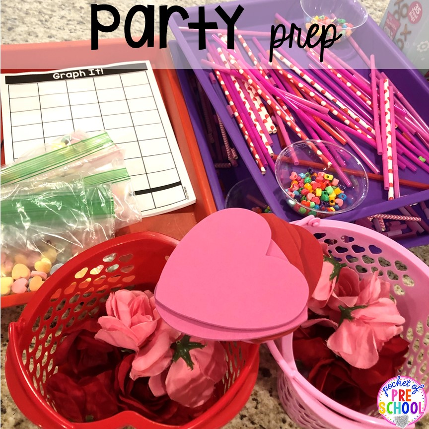 Prep party hack - Valentine's Day party ideas and hacks - freebie plus quick, easy, and dollar store finds! for preschool, pre-k, or lower elementary. #valentinesdayparty #preschool #prek #kindergarten #schoolparty