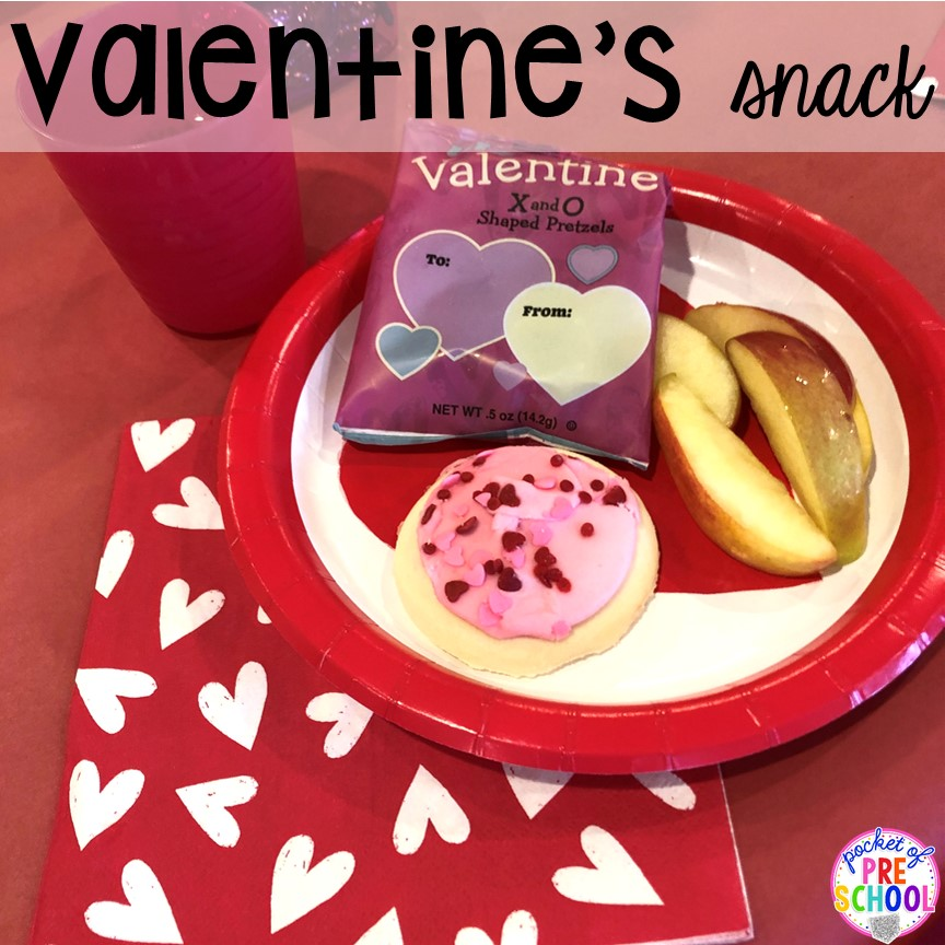 Snack idea! Valentine's Day party ideas and hacks - freebie plus quick, easy, and dollar store finds! for preschool, pre-k, or lower elementary. #valentinesdayparty #preschool #prek #kindergarten #schoolparty