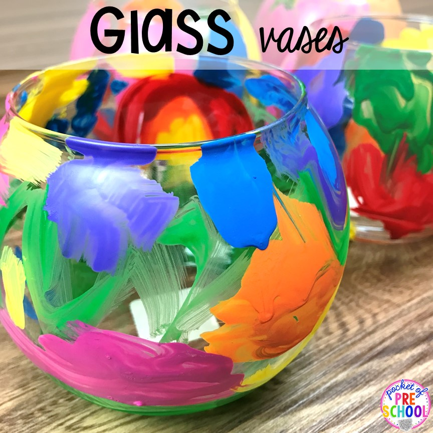 Glass vase kid made gift! Top 10 Kid made gifts for Mother's Day, Father's Day, Grandparent's Day, and Christmas. #kidmadegift #mothersdaygift #fathersdaygift