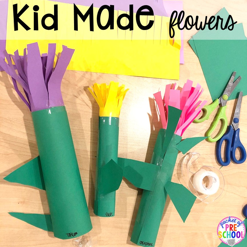 Kid made flowers! Top 10 Kid made gifts for Mother's Day, Father's Day, Grandparent's Day, and Christmas. #kidmadegift #mothersdaygift #fathersdaygift