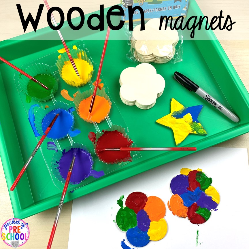Wooden magnet kid made gift! Top 10 Kid made gifts for Mother's Day, Father's Day, Grandparent's Day, and Christmas. #kidmadegift #mothersdaygift #fathersdaygift