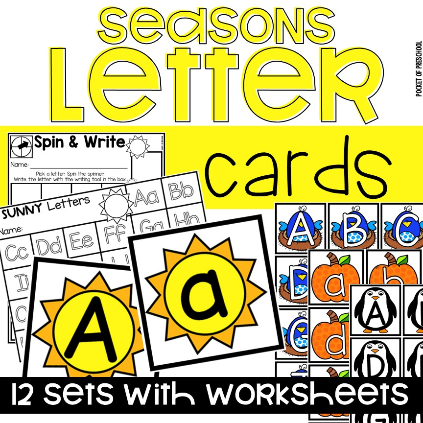 Letter cards for letter games and sensory play! Perfect for preschool, pre-k, and kindergarten.