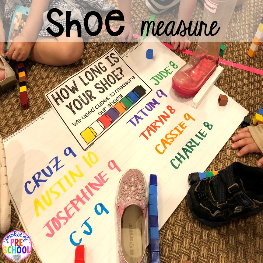 Shoe measure activity plus tons of all about me activities for back to school. Perfect for preschool, pre-k, or kindergarten. #allaboutme #diversity #backtoschool