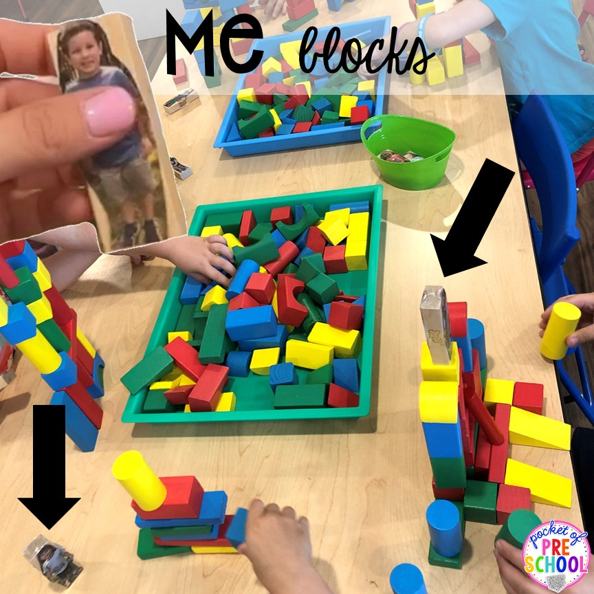 Me blocks plus tons of all about me activities for back to school. Perfect for preschool, pre-k, or kindergarten. #allaboutme #diversity #backtoschool