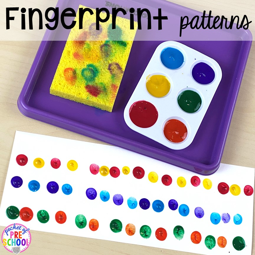 Fingerprint patterns plus tons of all about me activities for back to school. Perfect for preschool, pre-k, or kindergarten. #allaboutme #diversity #backtoschool