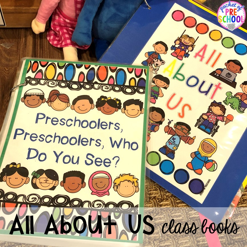 All about me class books! All about me activities for back to school or anytime during the year. Perfect for preschool, pre-k, or kindergarten. #allaboutme #diversity #backtoschool