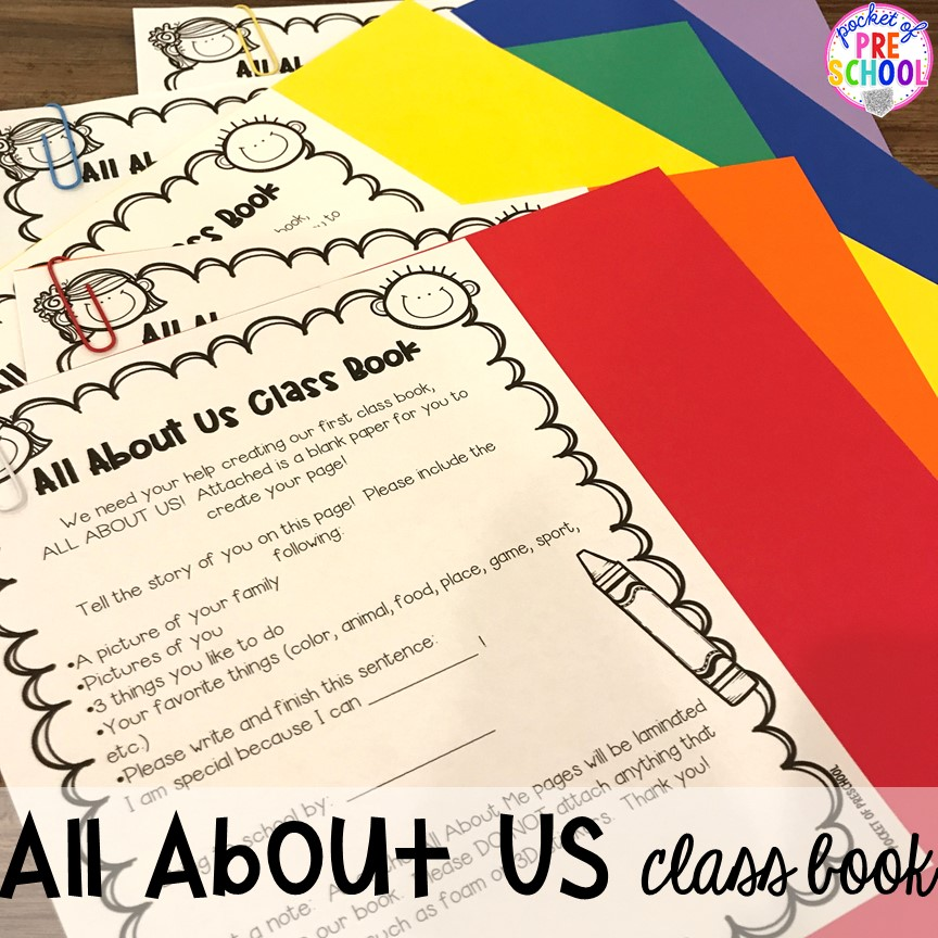 All about me class book! All about me activities for back to school. Perfect for preschool, pre-k, or kindergarten. #allaboutme #diversity #backtoschool